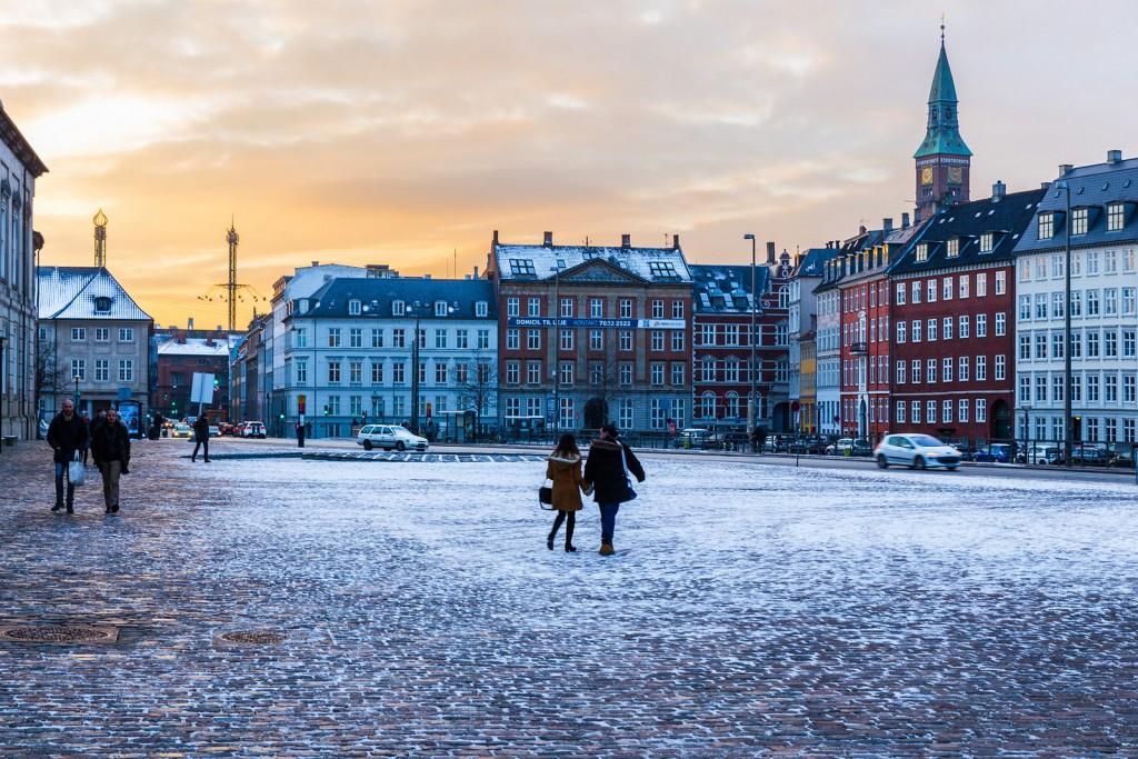 Tél Koppenhágában