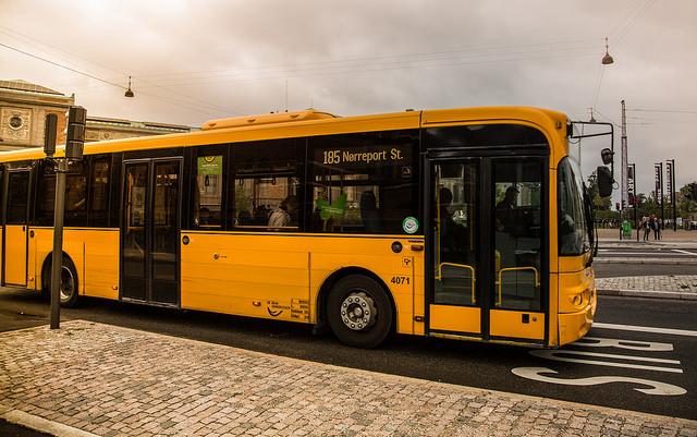 Busszal Koppenhágában