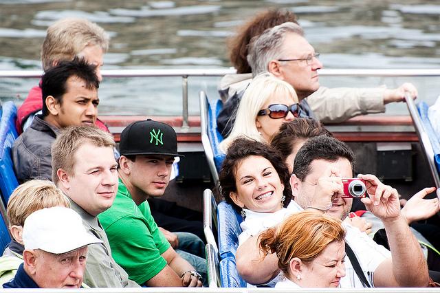 Turisták Koppenhágában