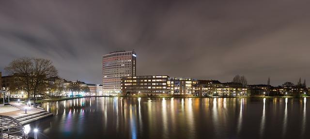 Koppenhága esti látképe