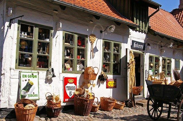 Antikkereskedés Koppenhágában
